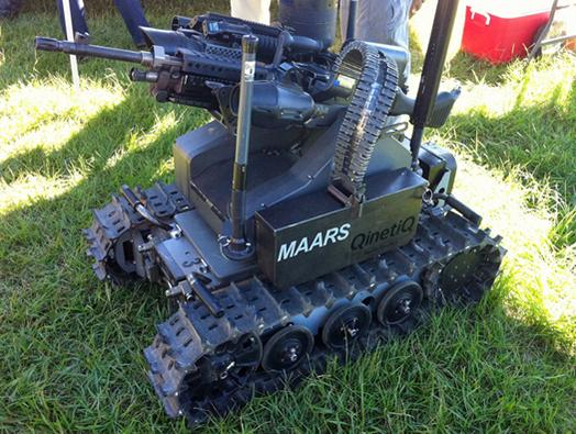 In Pictures: US military gets fired up over weaponised robots