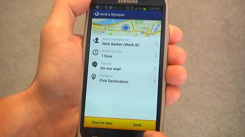 Secure location sharing with smartphone app