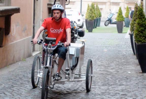 Google Street Views takes to a tricycle