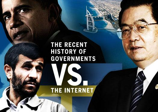 The recent history of governments vs. the Internet