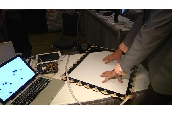 Invisible touch interface creates multitouch 'force field'
