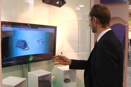 Window shopping goes high tech with gesture recognition