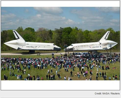 In Pictures: NASA Space Shuttles retire by sea/land