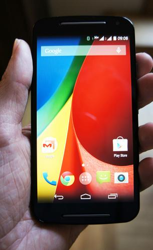 Motorola's Moto G smartphone on show at the IFA electronics expo in Berlin