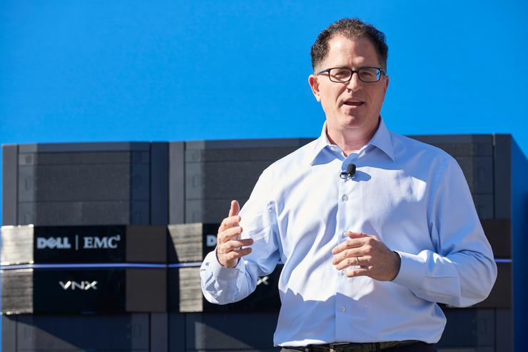 Michael Dell is selling Dell Services to NTT