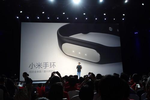 Xiaomi's CEO announces the company's new wearable, the Mi Band.