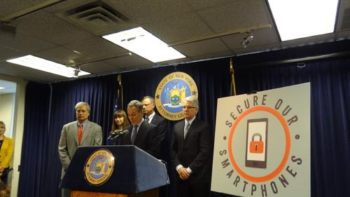 Secure Our Smartphones (SOS) initiative being announced at press conference in New York