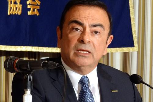 Nissan Motor CEO Carlos Ghosn speaks to journalists on Thursday in Tokyo, where he outlined the next steps in the automaker's Autonomous Drive technology program.