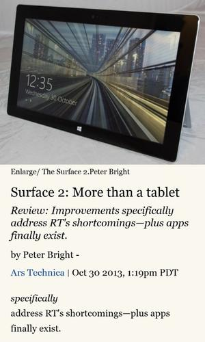 """A """"reader"""" feature in IE 11 for Windows Phone 8.1 reformats web pages so text is easier to read"""