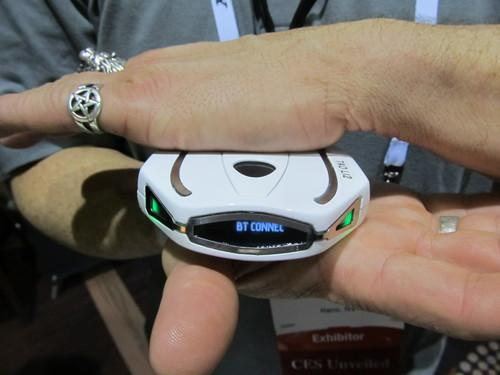 The Tao Wellshell is billed as a gym in your pocket. You squeeze it with your hands or other parts of your body to burn calories; it can also track your steps, sleep, and heart rate.