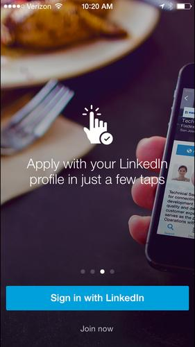 LinkedIn's job search app for iOS.