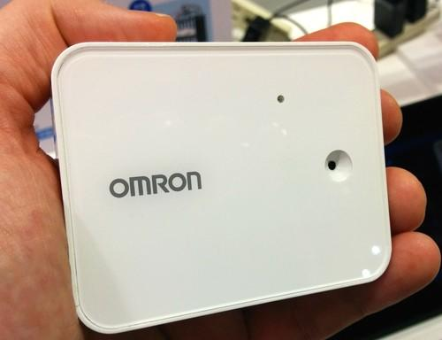 """Omron showed off a face-recognition camera at Ceatec 2014 that's designed to be the """"eyes"""" of the Internet of Things. The camera can automatically send a signal to turn down the lights when it recognizes that someone is sleepy."""