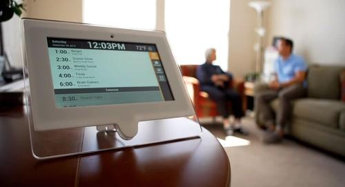 Panasonic North America is launching a tablet-based service for residents of assisted-living homes. The devices can issue daily schedule reminders and connect users with loved ones and caregivers.