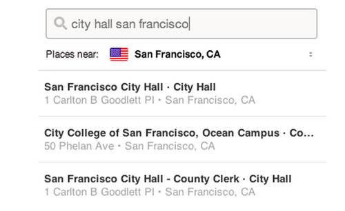 Pinterest's places search tool.