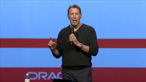 Larry Ellison at HCM World