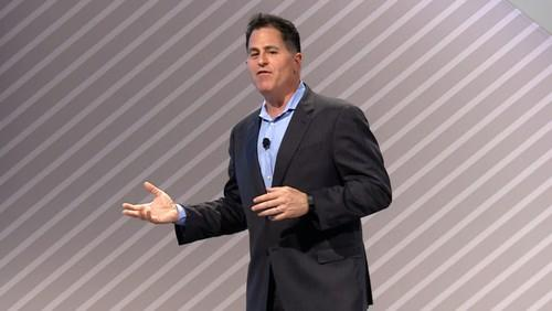 A sprightly Michael Dell opens Dell World on Tuesday.