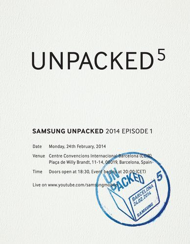 Samsung Electronics is hosting an event it calls Unpacked 5 at Mobile World Congress in Barcelona later this month. There may be others to come this year as it says this is only Episode 1....