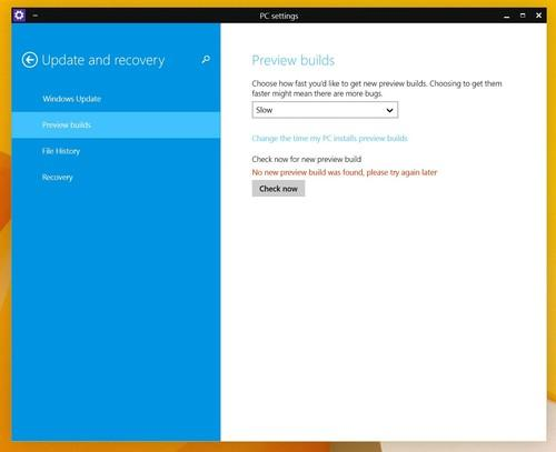 """Windows 10 TP testers can now choose to be on the """"slow"""" or """"fast"""" track for receiving new builds"""