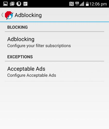 The Adblock Browser for Android lets users choose what ads they want to block