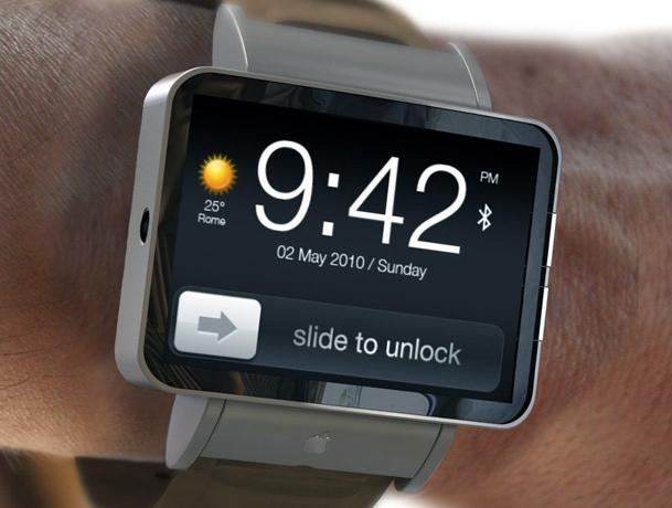 A concept design of the Apple iWatch.