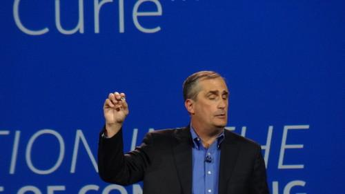 Intel's Curie chip -- so small, can't even see it. From CES 2015 keynote