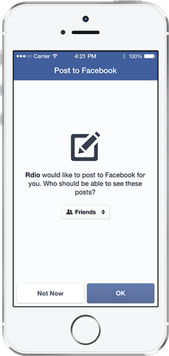Facebook's new login also provides clearer information to users about how other apps post to Facebook on their behalf.