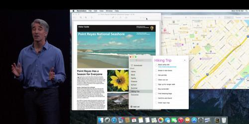 Craig Federighi shows El Capitan at WWDC 2015