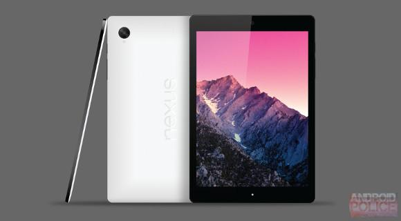 A suspected render of the HTC Nexus 9, Image source: Android Police