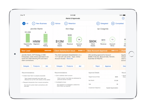IBM's Advisor Alerts for financial professionals