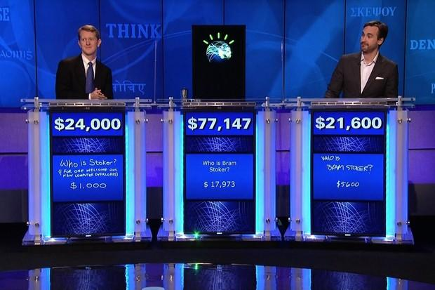IBM Watson appears on the Jeopardy quiz show Credit: IBM