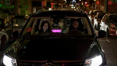 Lyft's app lets people hail a ride from their smartphones.