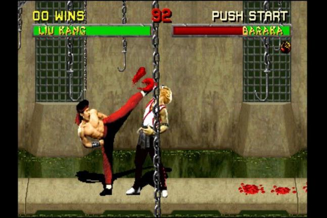 Mortal Kombat, a violent video game.