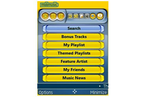 Optus' MobMusic application.
