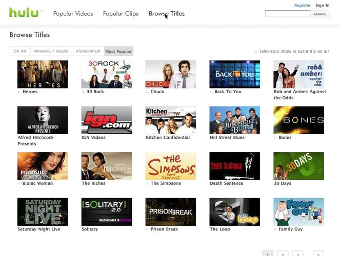 Hulu is a website that offers commercial-supported streaming video of TV shows and movies