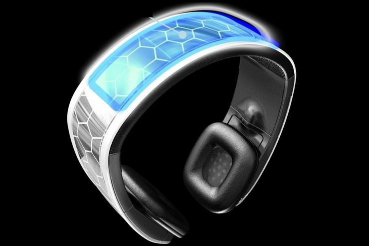 The Q-SOUND headphones use a solar panel to power the in-built Bluetooth circuits.