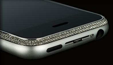 A diamond-encrusted iPhone, courtesy of Amosu.
