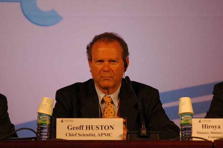 APNIC chief scientist Geoff Huston