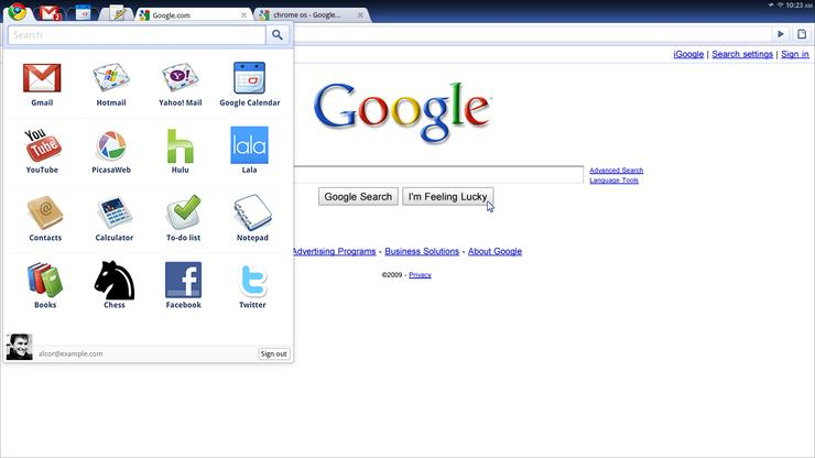Google's Chrome OS is a Web-centric platform ideal for netbooks [image: Google]
