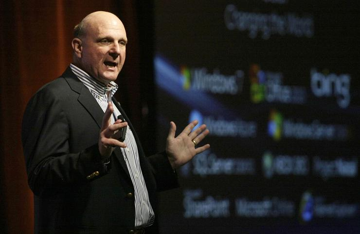 Microsoft chief executive officer, Steve Ballmer