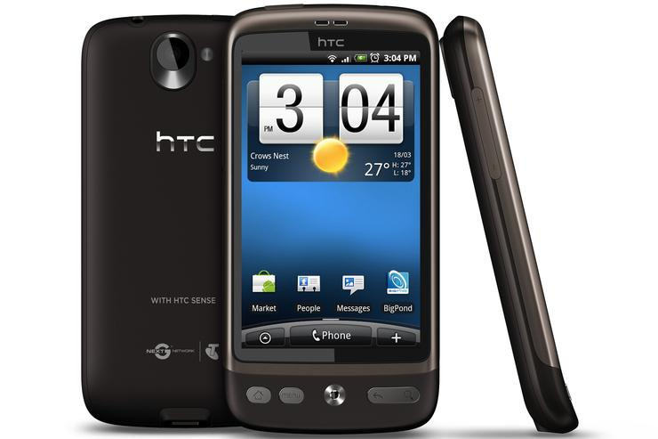 HTC's Desire smartphone will be available through Telstra from today.