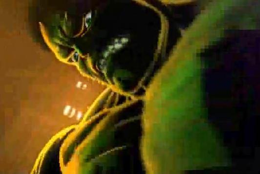 The Incredible Hulk stares down an opponent in Marvel vs. Capcom 3.