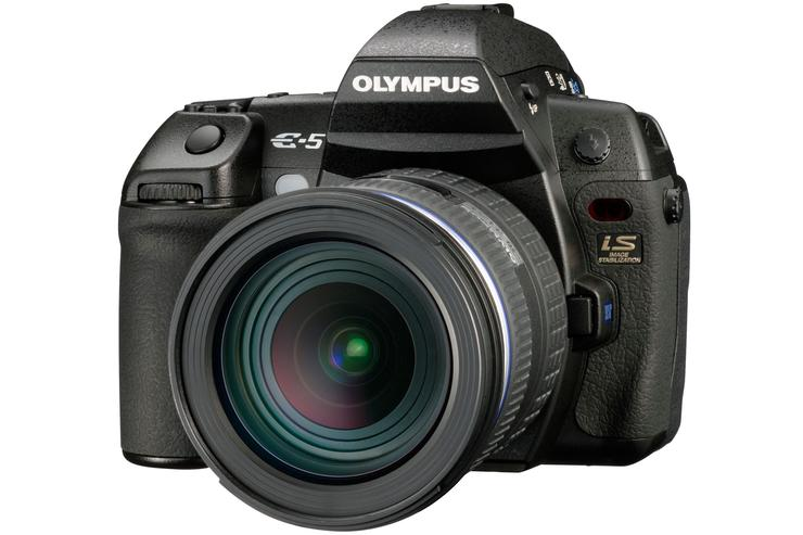 The Olympus E-5 digital SLR camera.
