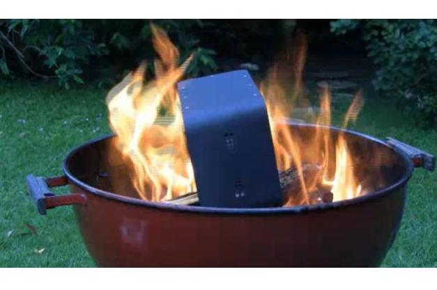 ioSafe SoloPro fire-proof hard drive.