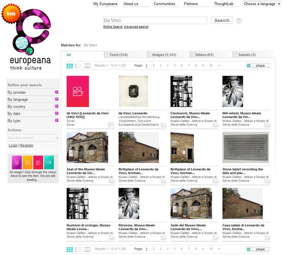 Europeana brings art and published content to the Web