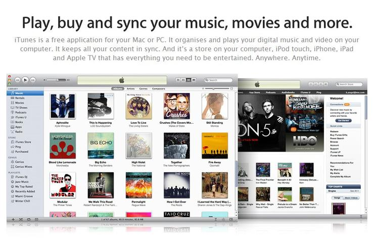 An Apple advertisement for the iTunes online music store.