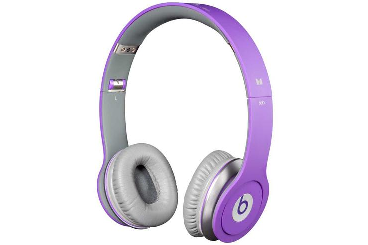The Justin Bieber JustBeats Solo headphones.