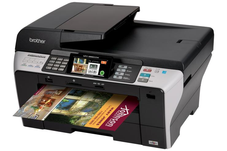 The Brother MFC-6890CDW multifunction inkjet printer.