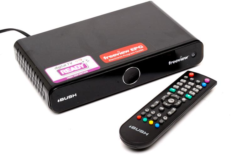 A Bush high definition digital TV set top box.