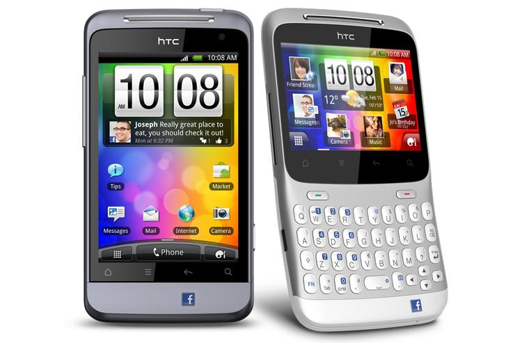 HTC's Salsa (left) and ChaCha Android phones: available exclusively though Vodafone from 6 July