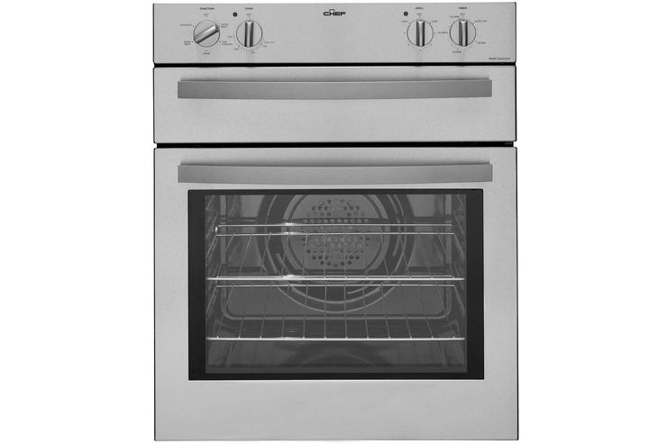 A free-standing oven.